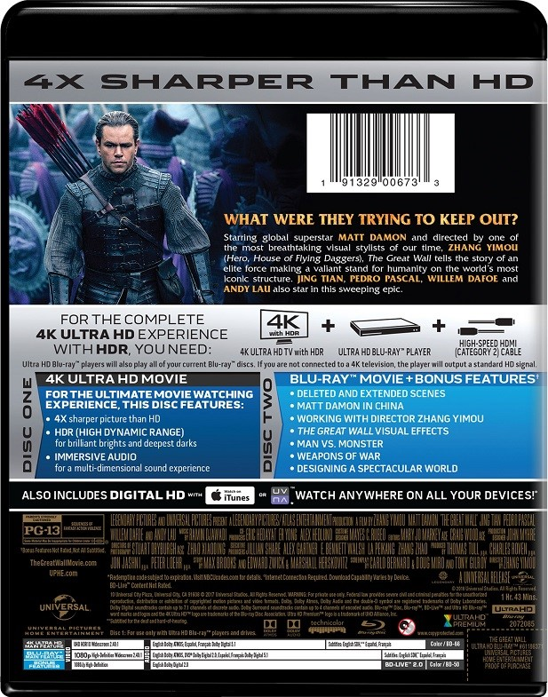 The Great Wall | Movie Page | DVD, Blu-ray, Digital HD, On
