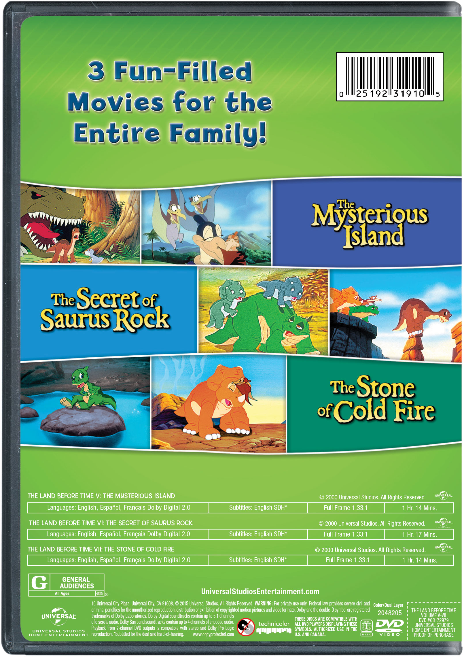 The Land Before Time: The Secret of Saurus Rock | Movie Page | DVD