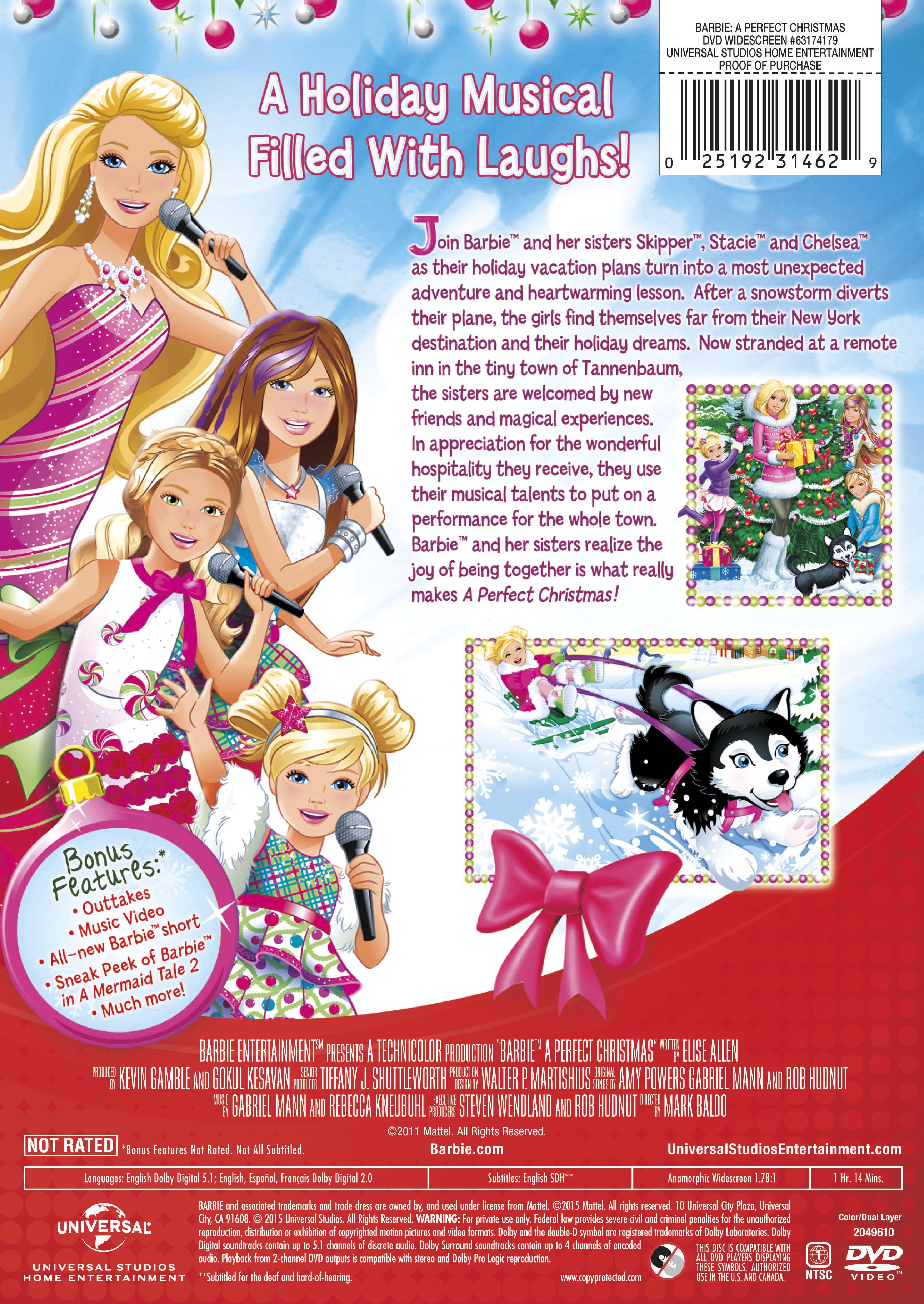 Barbie: A Perfect Christmas   Movie Page   DVD, Blu-ray, Digital ...