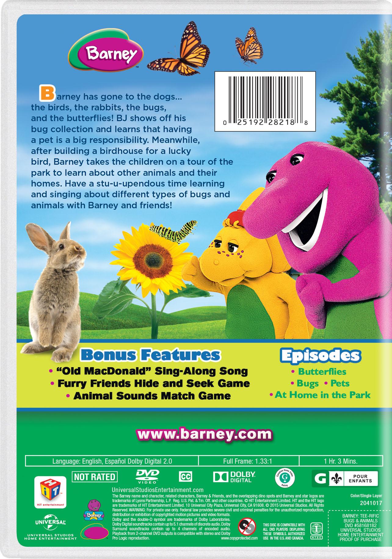 Barney Tee Rific Bugs Animals