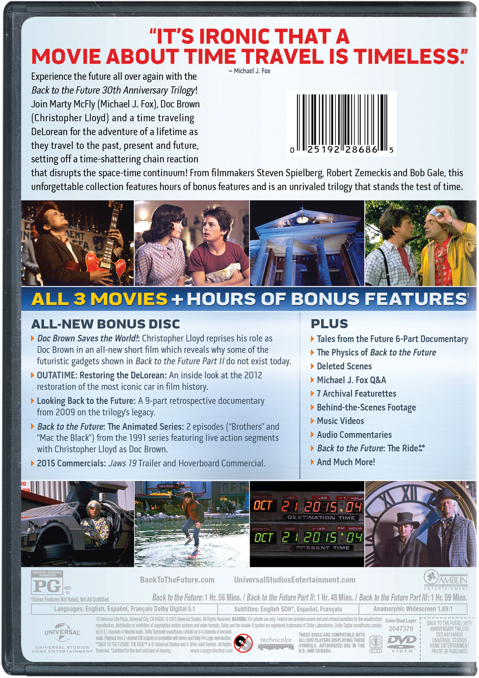 back to the future 25th anniversary trilogy 3