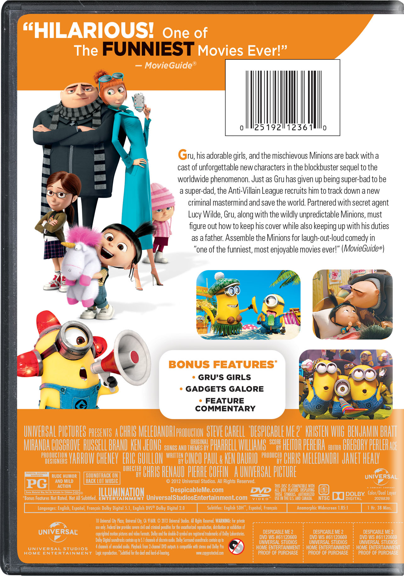despicable me 2 movie page dvd bluray digital hd