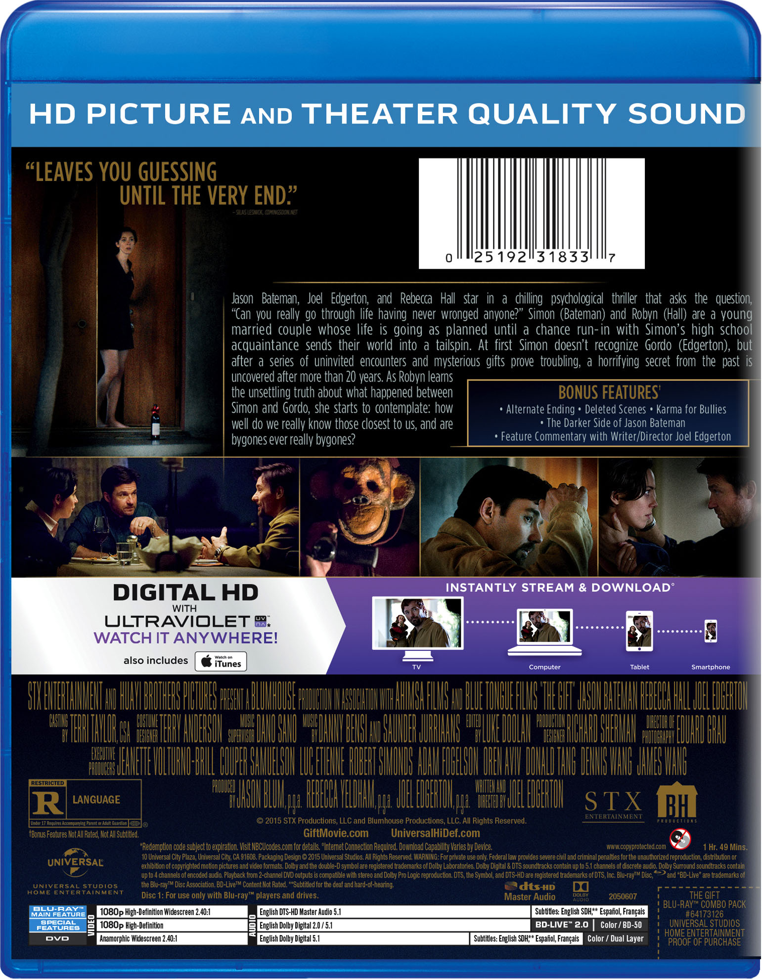 The Gift | Movie Page | DVD, Blu-ray, Digital HD, On Demand ...