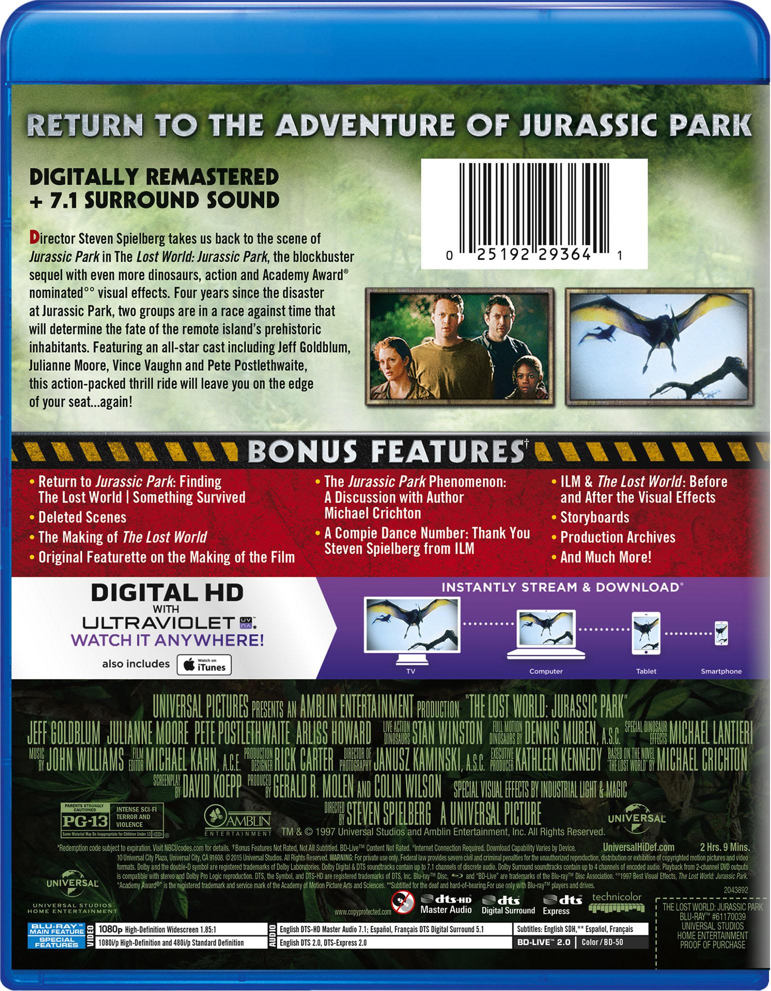 The Lost World: Jurassic Park | Movie Page | DVD, Blu-ray ... | 1541 x 1981 jpeg 715kB