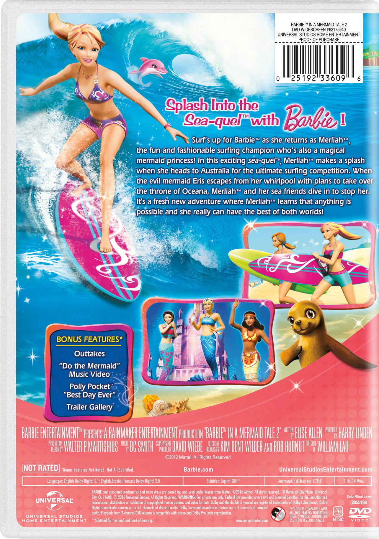 barbie in a mermaid tale 2 movie page dvd blu ray digital hd
