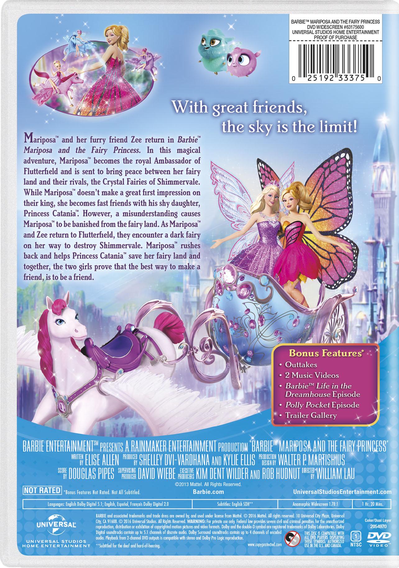 Barbie Mariposa The Fairy Princess Movie Page Dvd Blu Ray