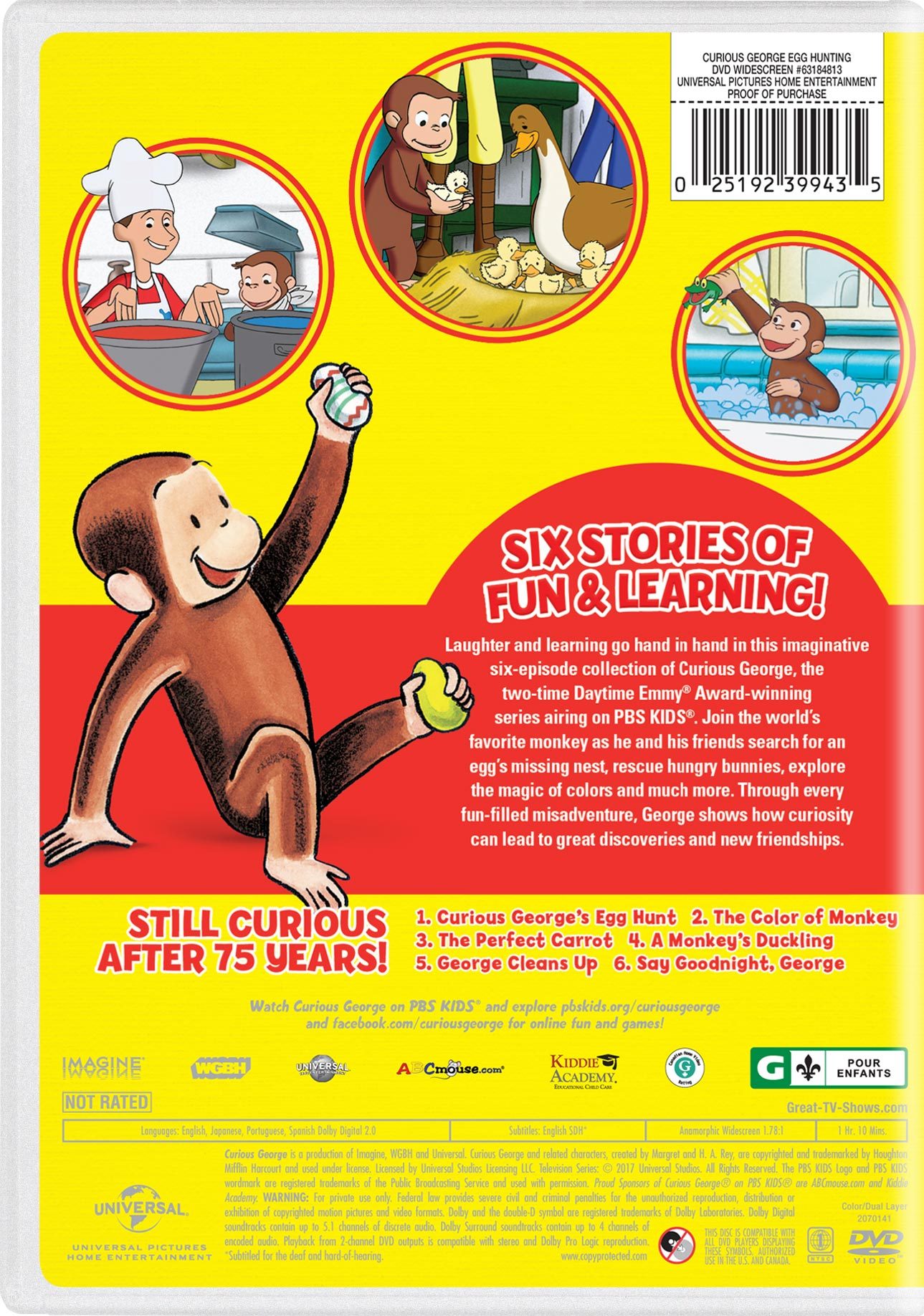 Curious George: Egg Hunting | Movie Page | DVD, Blu-ray, Digital HD