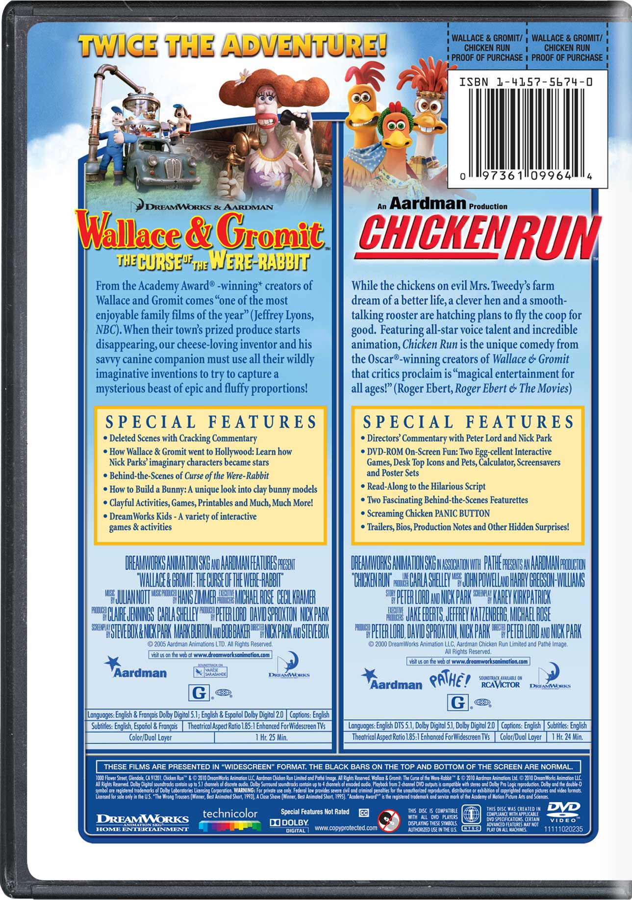 Wallace & Gromit: The Curse of the Were-Rabbit | Movie Page | DVD