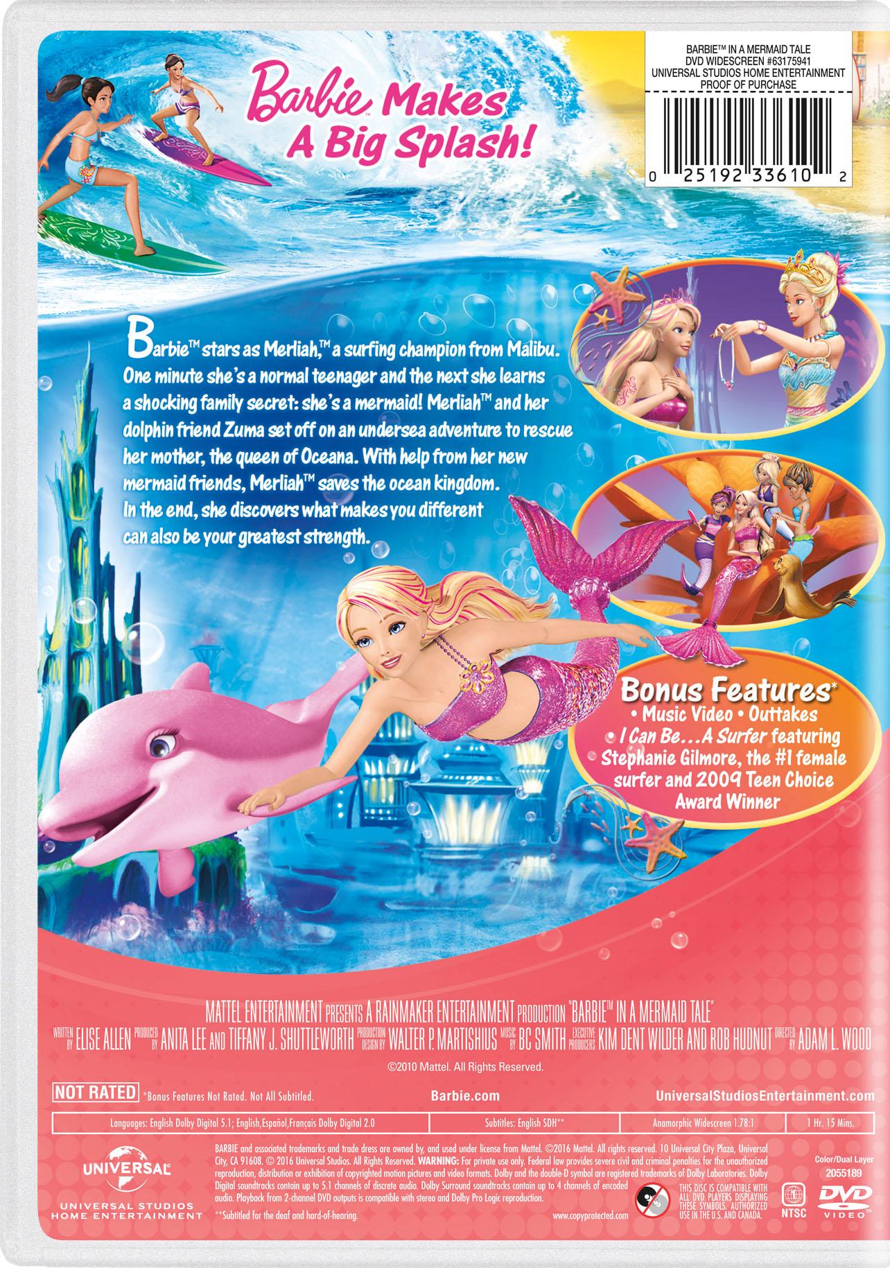 barbie in a mermaid tale movie page dvd blu ray digital hd on