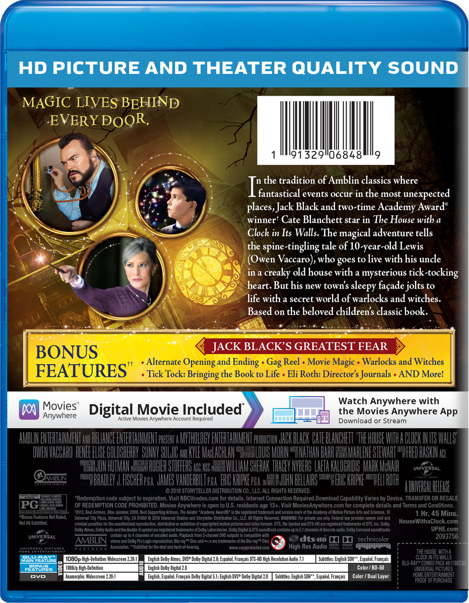 the house with a clock in its walls movie page dvd blu ray