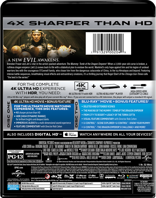 The Mummy: Tomb of the Dragon Emperor | Movie Page | DVD