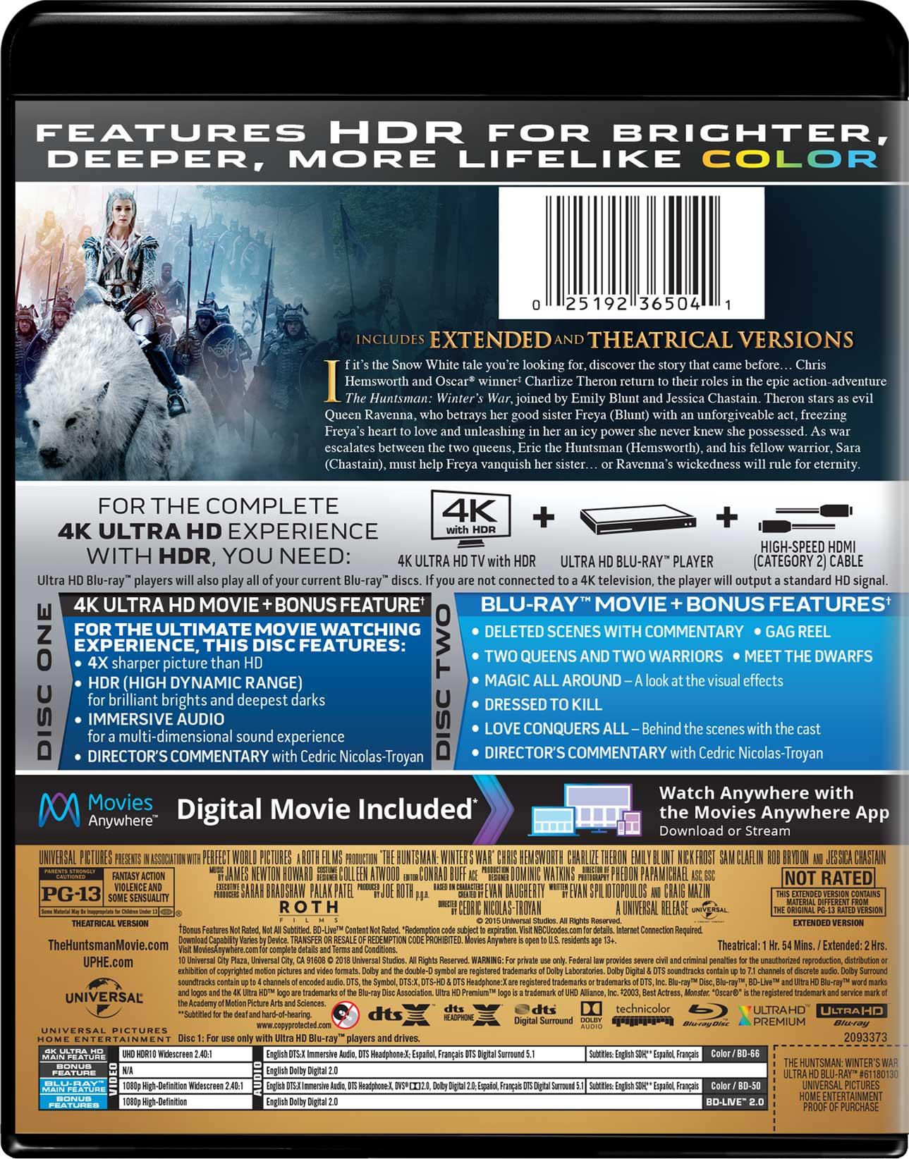The Huntsman: Winter's War | Movie Page | DVD, Blu-ray