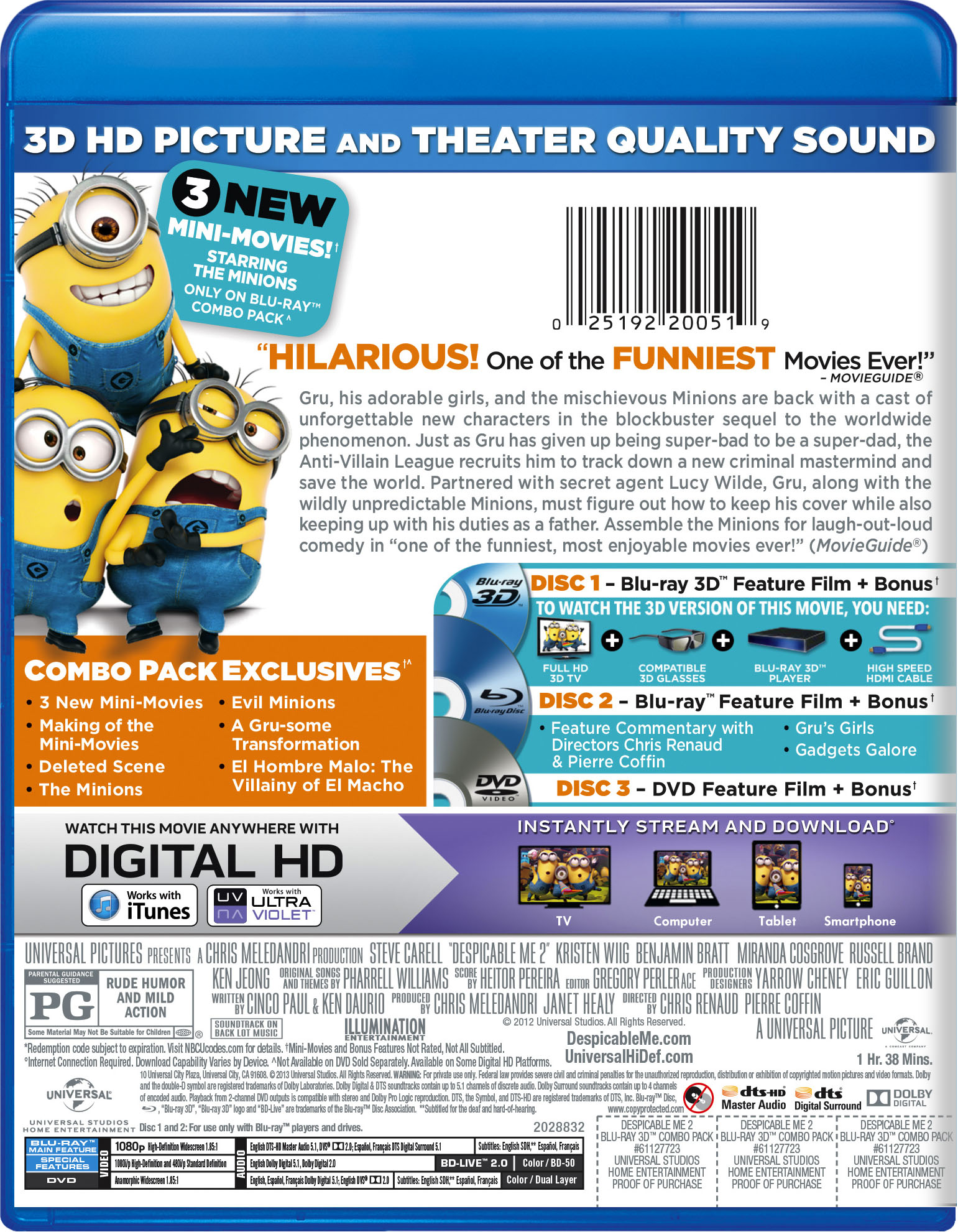 Despicable Me 2 | Movie Page | DVD, Blu-ray, Digital HD, On Demand