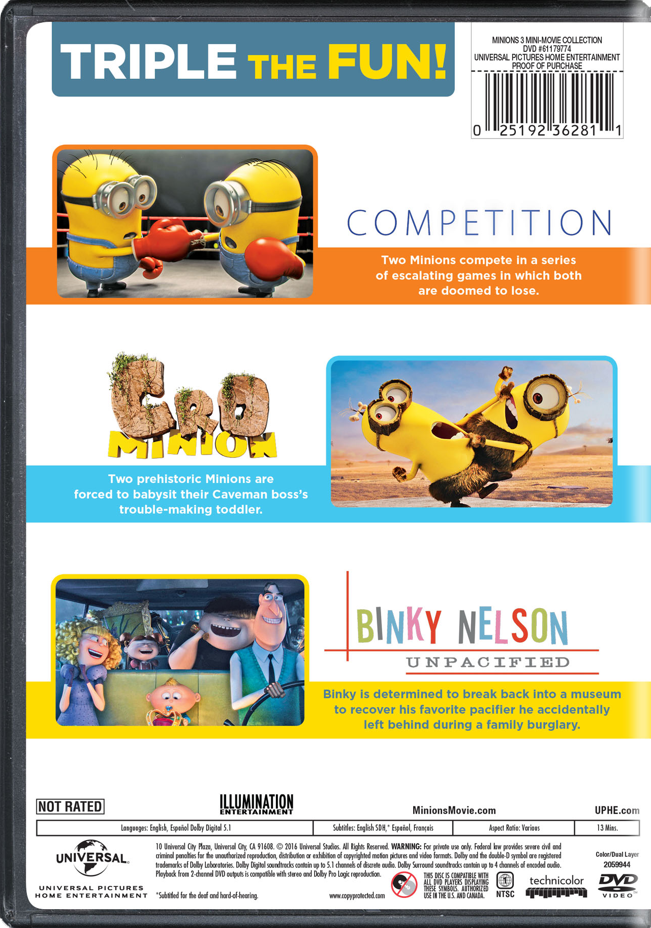 Minions 3 Mini Movie Collection Movie Page Dvd Blu Ray