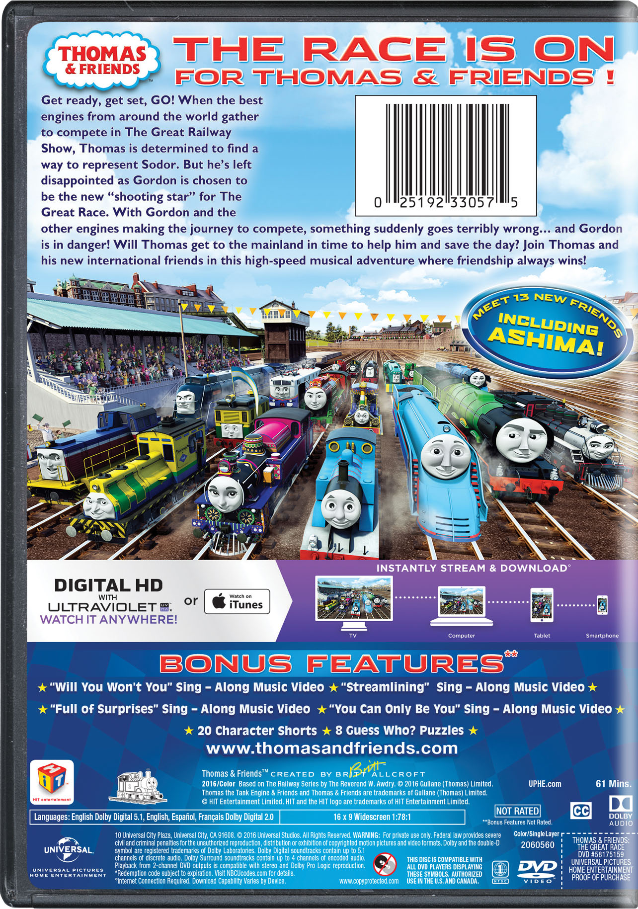Thomas & Friends: The Great Race - The Movie   Movie Page