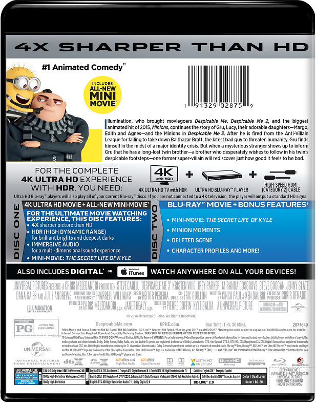 Despicable Me 3 Movie Page Dvd Blu Ray Digital Hd On Demand