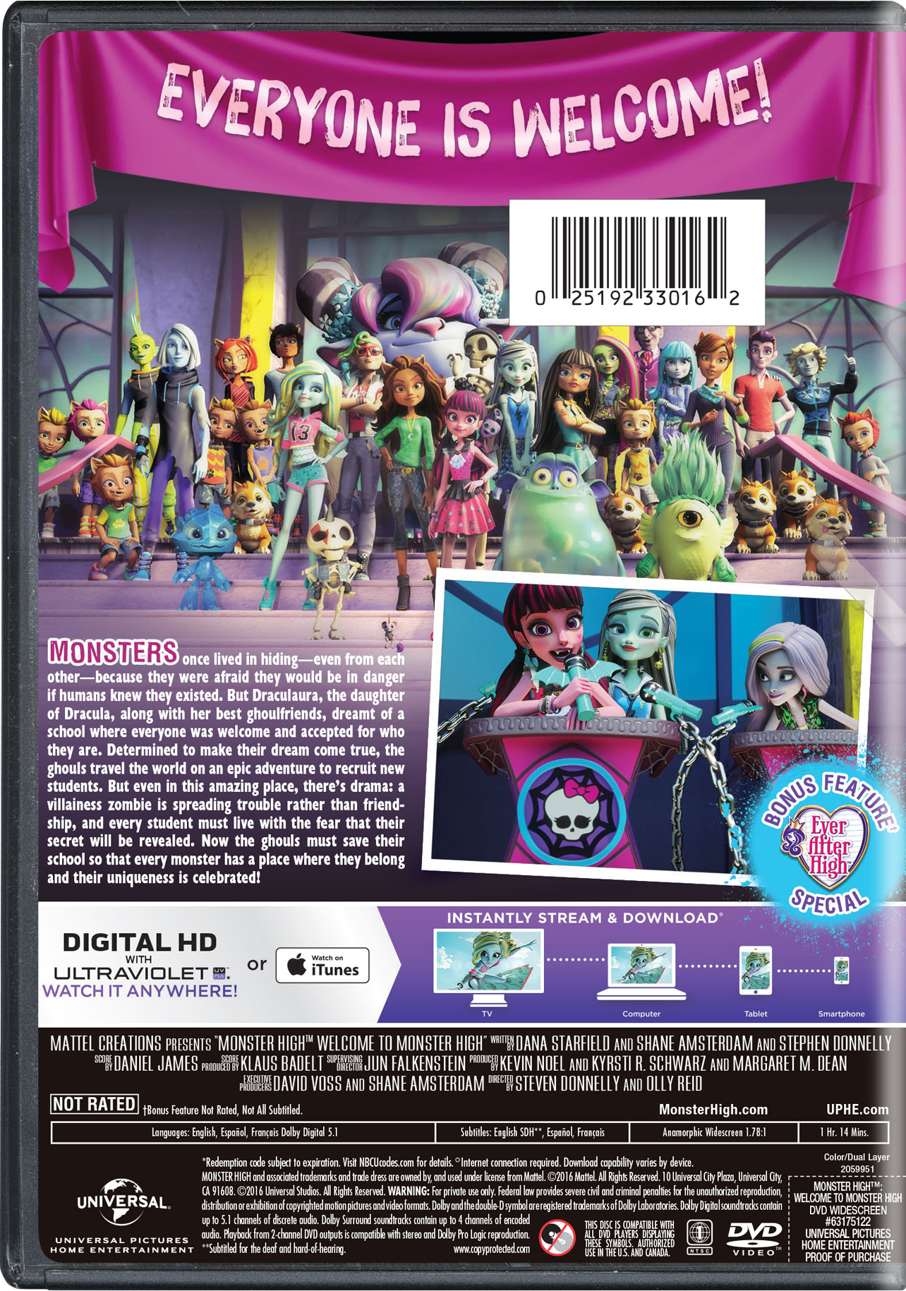 Monster High: Welcome to Monster High | Movie Page | DVD