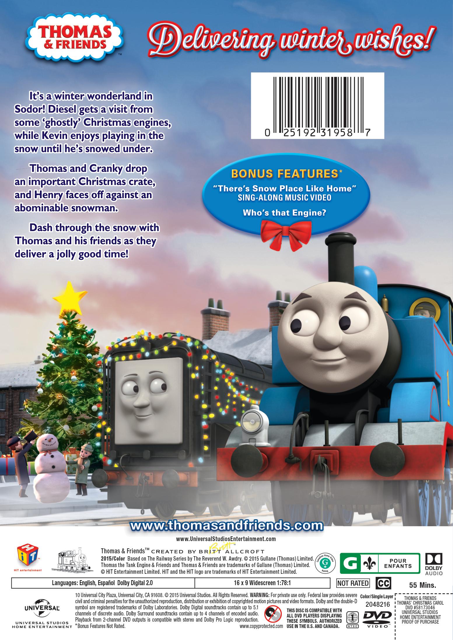 Thomas & Friends: Thomas' Christmas Carol | Movie Page | DVD, Blu ...