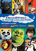 DreamWorks 4-Movie Collection (How to Train Your Dragon/Madagascar/Shrek/Kung Fu Panda)