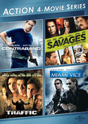 Action 4-Movie Series (Contraband / Savages / Traffic / Miami Vice)