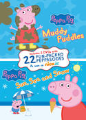 Peppa Pig Muddy Puddles and Sun, Sea, and Snow