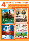 4-Movie Marathon: Family Adventure Collection (Jungle Boy / Treasure Island / Nico the Unicorn / Owd Bob)
