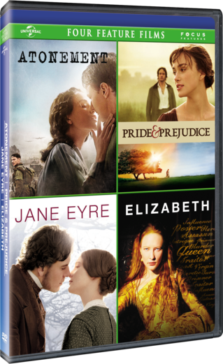 Atonement Pride & Prejudice Jane Eyre Elizabeth Four Feature Film