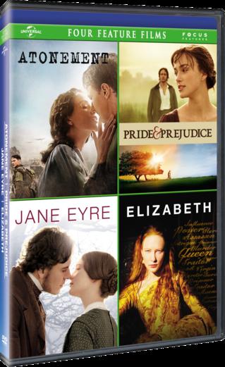 Atonement Pride & Prejudice Jane Eyre Elizabeth Four Feature Film