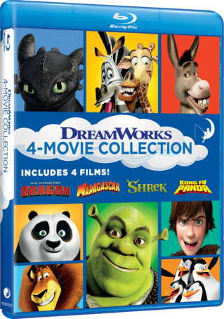 DreamWorks 4-Movie Collection (How to Train Your Dragon/Madagascar/Shrek/Kung Fu Panda)