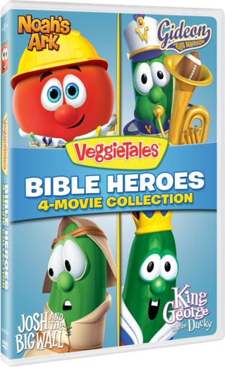 VeggieTales: Bible Heroes - 4-Movie Collection (Noah's Ark / Gideon Tuba Warrior / Josh and the Big Wall / King George and the Ducky)