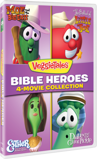 VeggieTales: Bible Heroes - 4-Movie Collection (Moe and the Big Exit / The Ballad of Little Joe / Esther: The Girl Who Became Queen / Dave and the Giant Pickle)