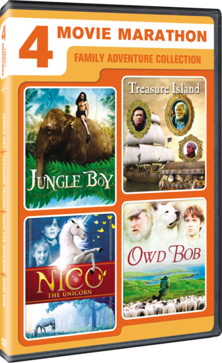4-Movie Marathon: Family Adventure Collection (Jungle Boy / Treasure Island / Nico the Unicorn / Owd Bob)