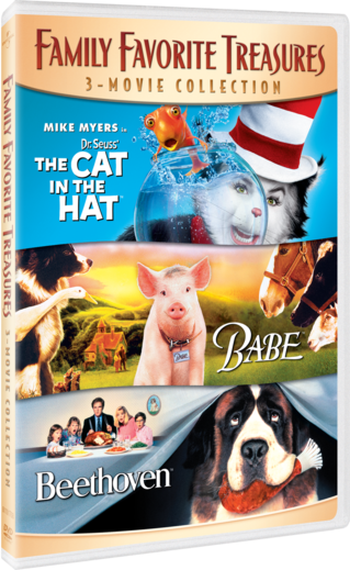 Family Favorite Treasures 3-Movie Collection (Dr. Seuss' The Cat in the Hat / Babe / Beethoven)