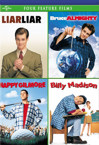 Liar Liar / Bruce Almighty / Happy Gilmore / Billy Madison Four Feature Films