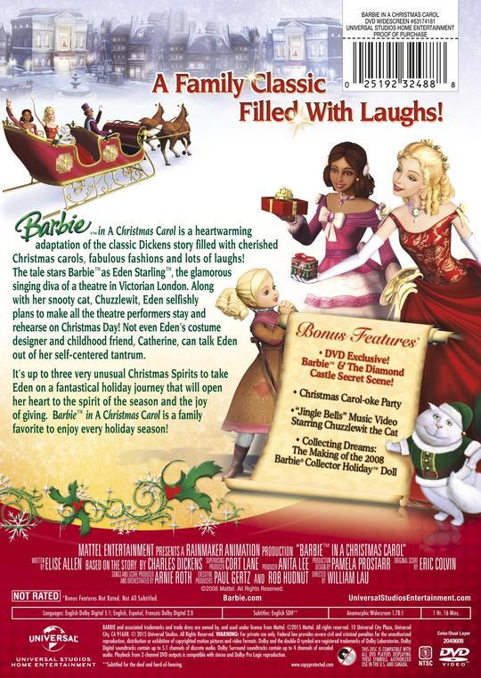 Barbie in A Christmas Carol   Movie Page   DVD, Blu-ray, Digital, On Demand, Trailers, Downloads ...