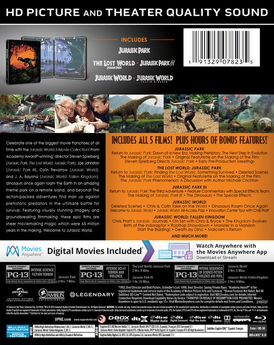 JurassicWorld5MovieCollection BD BackArt 0