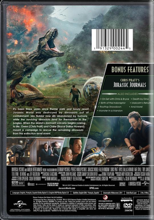 JurassicWorldFallenKingdom DVD BackArt