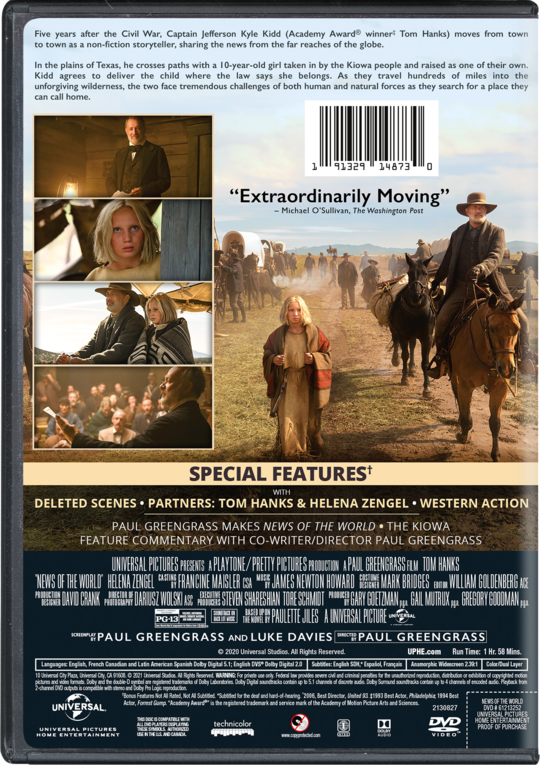 News of the World   Watch Page   DVD, Blu-ray, Digital HD, On Demand,  Trailers, Downloads   Universal Pictures Home Entertainment