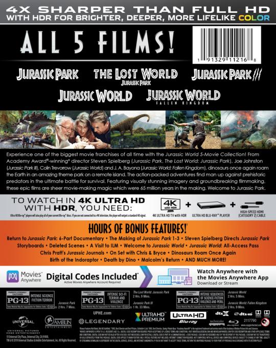 JurassicWorld5MovieCollection 4K BackArt