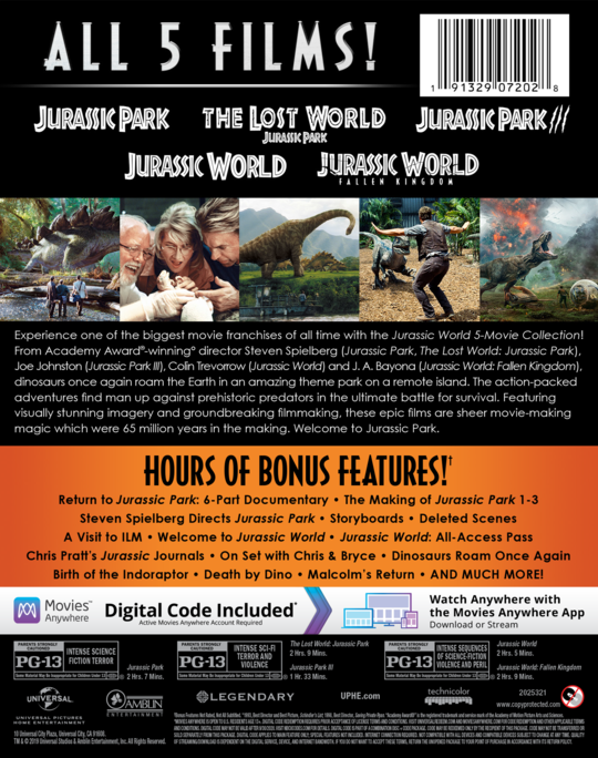 The Lost World Jurassic Park Own Watch The Lost World Jurassic Park Universal Pictures